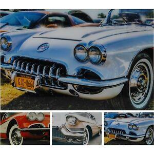 Retro Car Wall Sign Classic Plaque Vintage Style Automobile Decor Glass 40x60cm