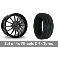"4 x 17"" Fox Racing FX004 Black Alloy Wheel Rims and Tyres -  215/60/17"