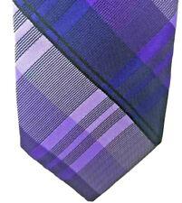 J. Ferrar Skinny Tie Plaid Hand-Made Men's Necktie