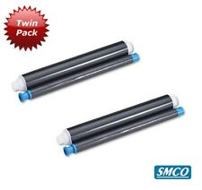 More details for 2 for panasonic ub5815 ub5315 ug6001 fax roll black thermal ink film twin bysmco