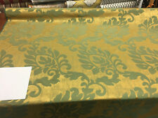 "Fabricut Green Gold Jacobean Reversible Drapery Fabric By the yard 56"""