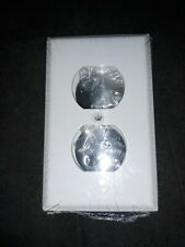NEW Amerelle 6 Pack Metal Duplex Outlet Covers ~ White