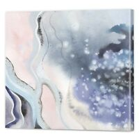 Soft Pink Abstract Canvas Art   Framed Ready to Hang Pastel Wall Prints