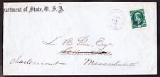 US O62 10c State Department Official on Cover w/ Violet Cancel SCV $2000
