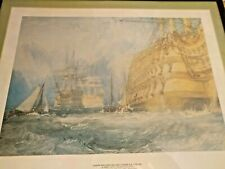 Joseph Mallord William Turner Framed Art Print 1775-1851 A First Rate Taking
