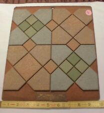 Vintage Ceramic Tile *American Olean* 1950's  Sample colors on masonite board 6