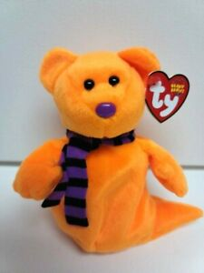 """Ty Beanie Babies-New Shivers The Halloween Bear-MWMT-Charming Ghost-7"""""""