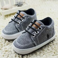 Baby Infant Toddler Boy Girl Soft Sole fashion prewalker Crib Shoes 0-18 Month