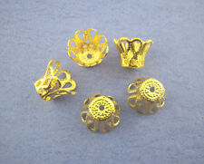 PD: 260 Vergoldet Filigrane Perlen Beads Ende Kappen 7mm