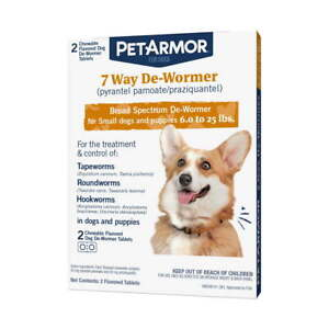 PetArmor 7 Way De-Wormer for Puppies & Small Dogs, 2 Chewable Tabs