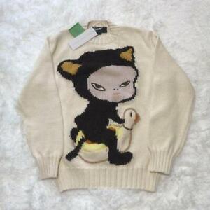 Yoshitomo Nara Stella McCartney Cat Intarsia Knit Sweater XXS Size New  [6-172