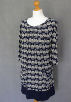 JOULES Ladies Navy Patterned ALICIA DRESS - Size UK 8 - US 4 - XS - Extra Small