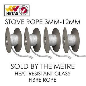Heat Resistant Stove/Fire Rope For Woodburner/Log Burner M/Fuel Doors& Flue Seal