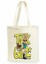 FUNNY TANK GIRL KICK COMIC POSTER SHOPPING CANVAS TOTE BAG IDEAL GIFT PRESENT