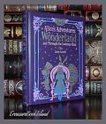 New Alice in Wonderland & Through Looking Glass Illustrated Sealed Leather Bound