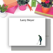Personalized Golf Theme Cards & Envelopes, Thank You Stationery