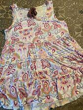 matilda jane pink floral tunic top size M