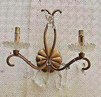 Ancienne épave applique vintage pampille Chandelier restauration lustre deco