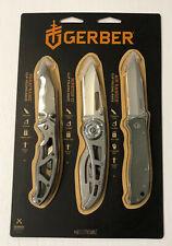 Gerber Greatest Hits 3 pc Folding Knife Set Paraframe, Ripstop Ii & Air Ranger