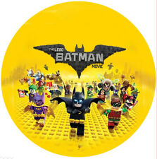 """LEGO BATMAN PERSONALISED CAKE TOPPER EDIBLE ROUND 7.5"""" PRINTED TOPPER #1"""