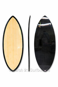 "52"" Epoxy EPS Skimboard Medium Pin Tail Bamboo Carbon Skim Surf"