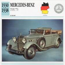 1930-1938 MERCEDES BENZ Type 770 Classic Car Photograph / Information Maxi Card