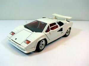 Modellauto BURAGO * LAMBORGHINI COUNTACH 1988 * Bertone * weiß * 1:18 * TOP