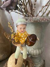Wattefigur mit Porzellankopf für Osterstrauch, Shabby,Vintage, handmade