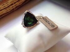 NWT Uno de 50 Silver-Plated Ring w/ Emerald Green Swarovski Crystal -Size 7