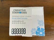 Creative Memories Spring Leaf Chain Border Maker Cartridge Spring Leaf Punch