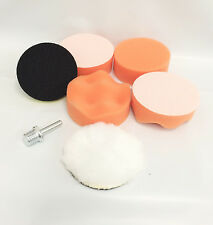 "NEW 7 Pcs 3"" Buffing Pad Auto Car Polishing Wheel Kit Buffer + Drill Adapter"
