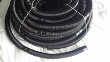 "Swimming Pool 1.5"" BLACK VAC HOSE cuffed/priced every 0.5m"