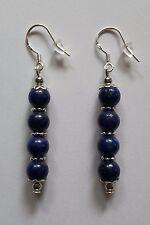 """Boucles d'oreille pendante en perles """"Lapis Lazuli naturelle"""" en argent 925"""