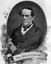 "New 8x10 Photo: General Antonio Lopez de Santa Anna, ""The Napoleon of the West"""