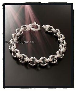 Armband Kette Kettenglieder Breite Massiv Silber 925/1000 Gelocht Damenschmuck