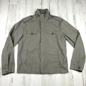 Levi's Men's Olive Green Trucker Jacket Cotton Size M EUC