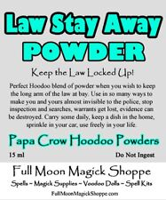 Law Stay Away Hoodoo Voodoo Powder Protection Police Judge Jury Jail Prison Safe