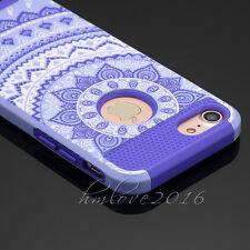 Mandala Hybrid Rubber Hard Shockproof Case Cover Skin for iPhone 5se /6S /7 Plus