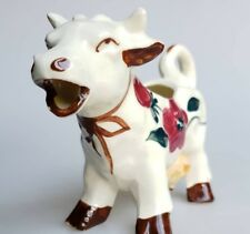 Vintage figural cow pitcher creamer Sonsco Japan pottery floral kitchen decor