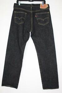 Levi's 501 Mens 36 x 31 Black Denim Button Fly Jeans