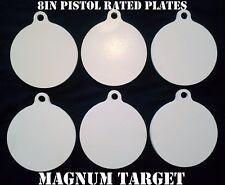 8in Metal Gong Targets-Steel Shooting Targets-Metal Pistol Targets-6pcs