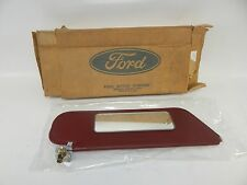 New OEM 1989-1992 Ford Ranger Sun Visor Sunvisor w/ Arm Bracket Mirror Red