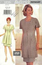 Butterick Misses'  Dress Pattern 3896 Size 12-16 UNCUT