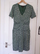 Ladies Great Plains Green and White Polka Dot Dress Size Medium