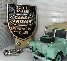 Land Rover SUR Oriental PROPIETARIO Club Metálico Latón Parachoques Parrilla