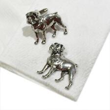 Quality Cufflinks Handmade in England Silver Pewter Rottweiler Dog High