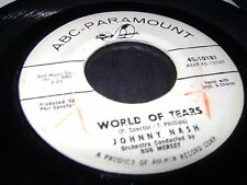 Johnny Nash WORLD OF TEARS / SOME OF YOUR LOVIN' 45 RPM NORTHERN SOUL plays nice