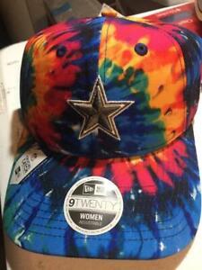 Dallas Cowboys NFL Women's 920 Crucial Catch Hat Cap Tie-Dye Cancer Adjustable D