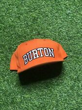 Burton Snowboards Starter The Natural Snapback Baseball Cap Hat Orange White