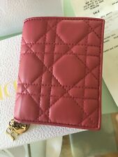 Dior LAdy Medium Purse Pink Salmon Wallet Quilted
